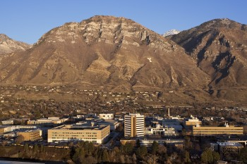 BYU Campus with the mountains