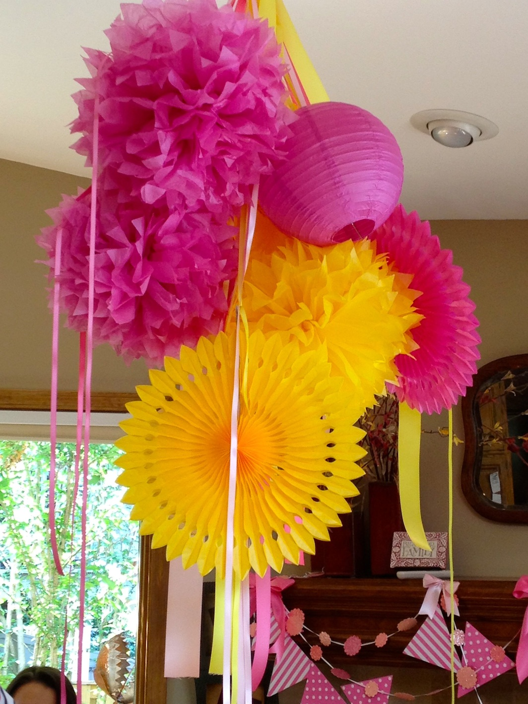 Princess party pink and yellow princess party pink and - Red and yellow centerpieces ...