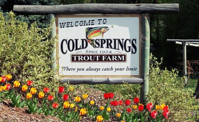 Fishing at Cold Springs Trout Farm in Ogden, Utah