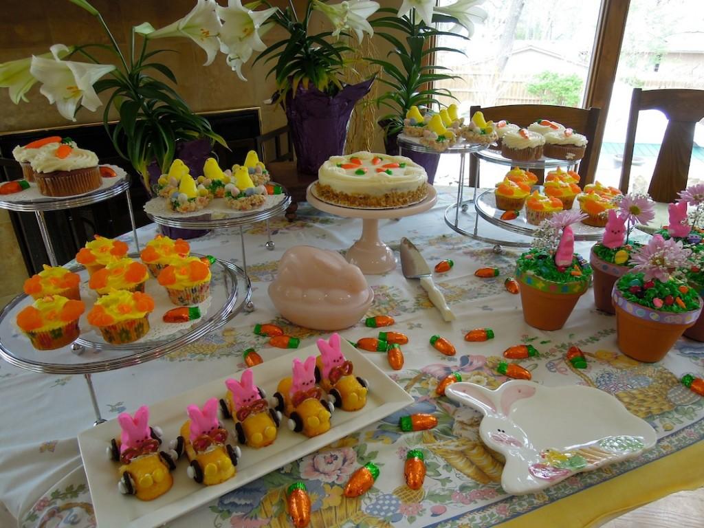 Easter easter dinner carrot cake carrot cake flower for Dessert for easter dinner