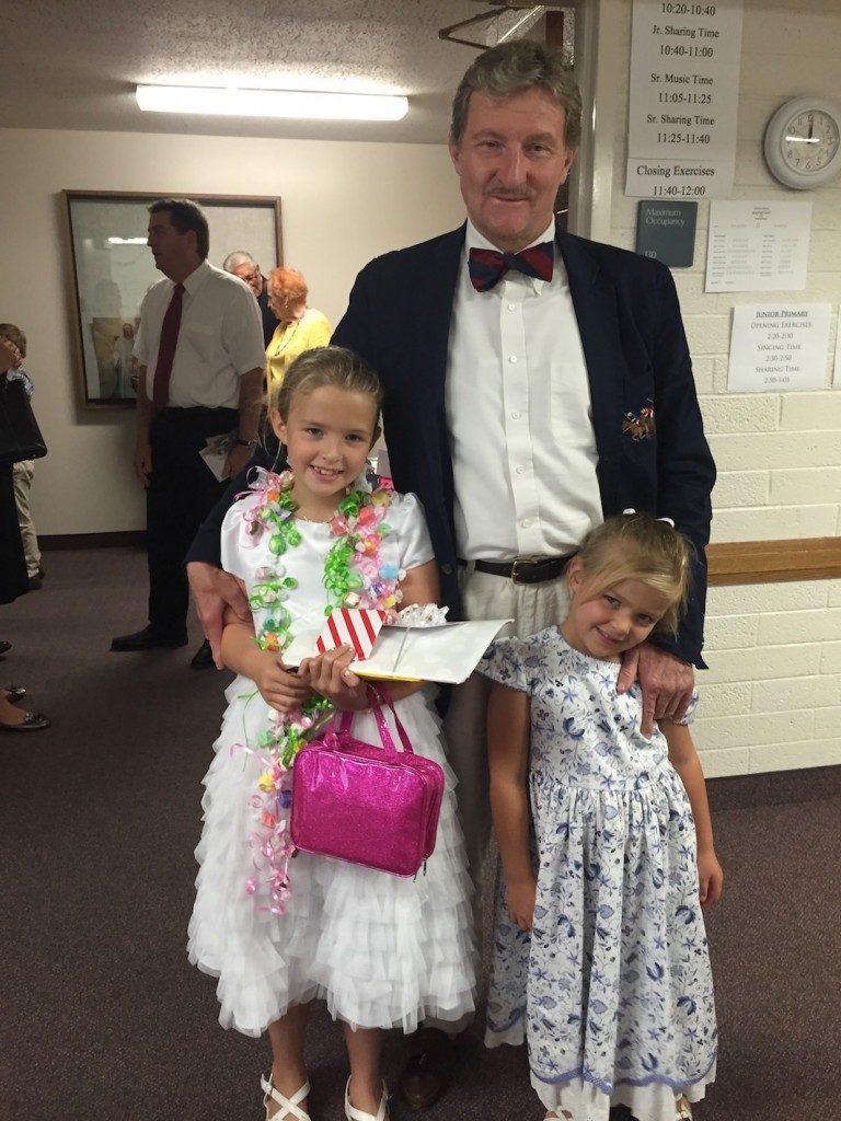 Becca, Caroline and Grandpa