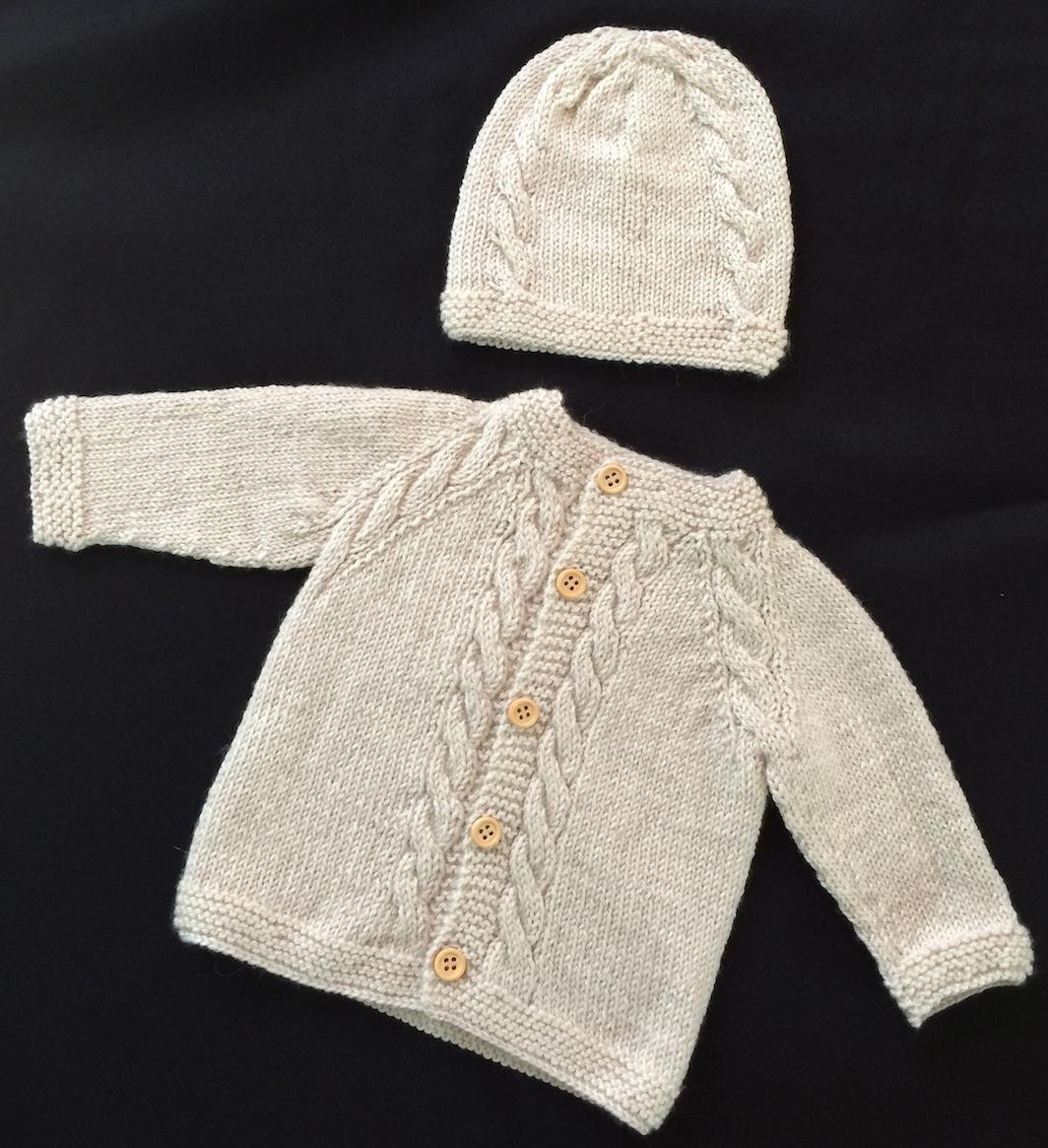 Baby Boy White Cardigan Sweater