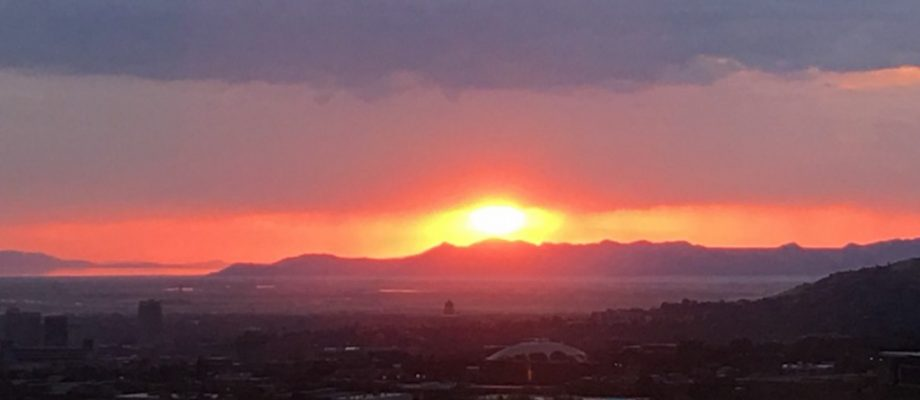 Sunset over the Great Salt Lake