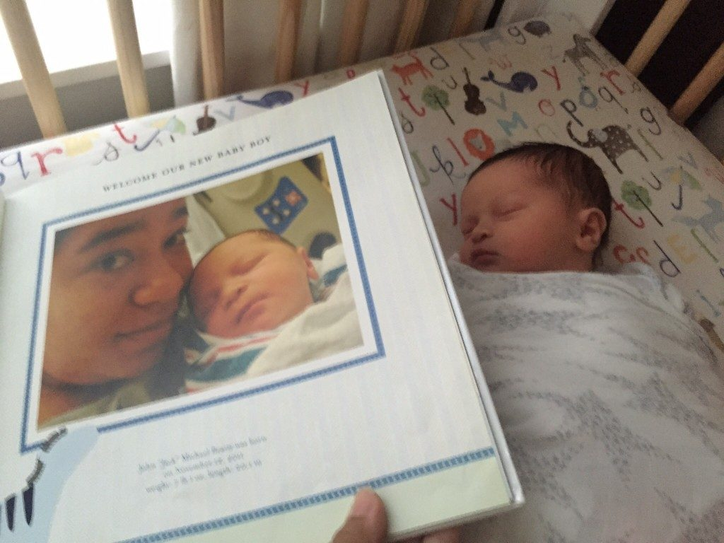 Benjamin Michael Beatty August 8, 2016 compared to older brother Jack's baby picture