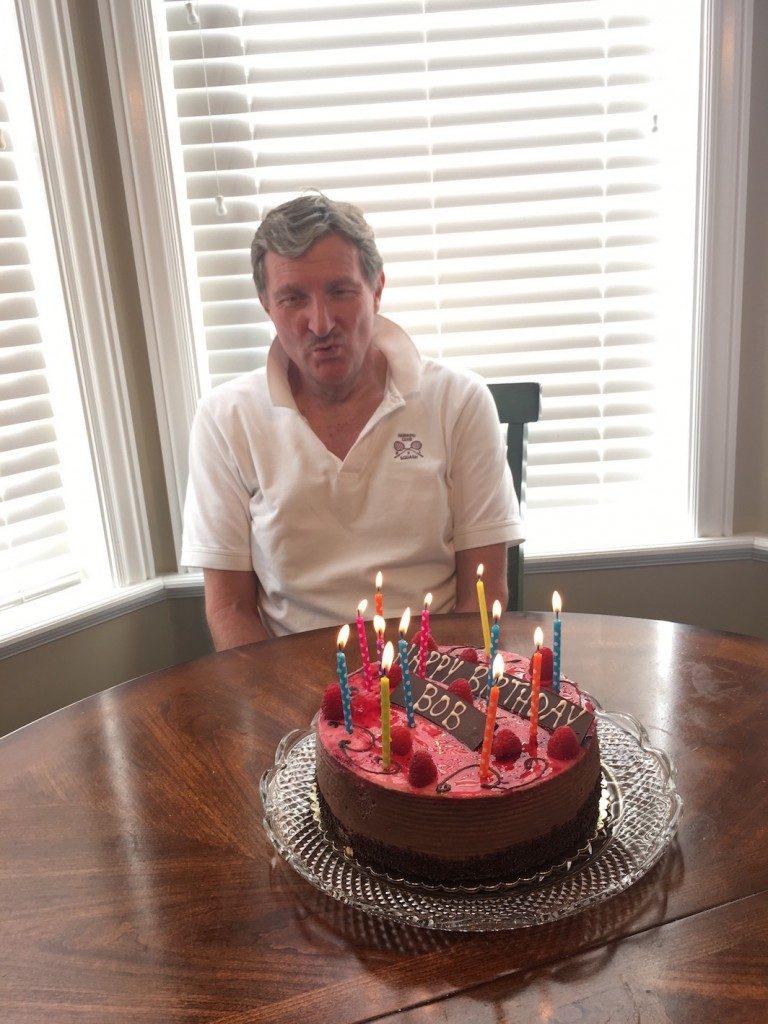 Birthday boy with cake