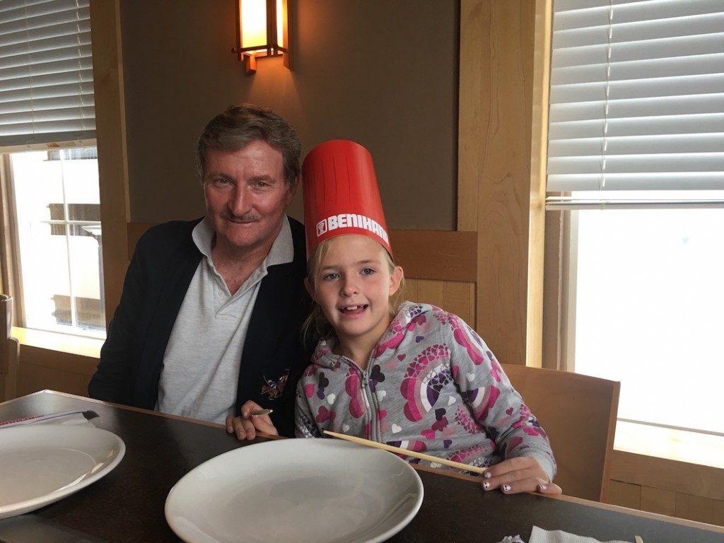 Celebrating birthday's at Benihana Restaurant in SLC