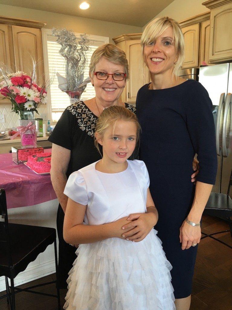 Becca, her mom Jen and grandma (me)