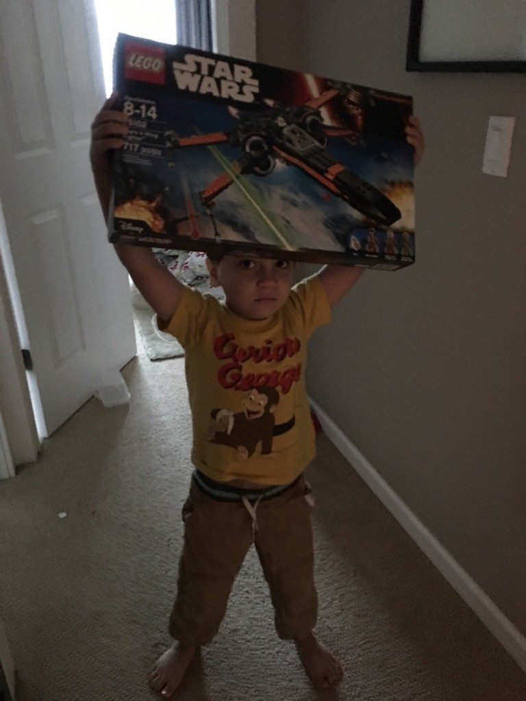 Jack with his new Legos