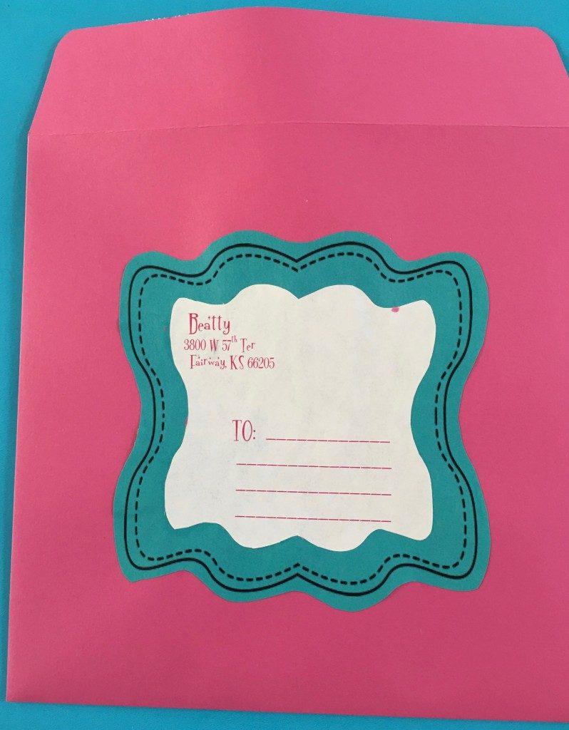YWIE invitation KC1 Rocks Personal Progress envelop