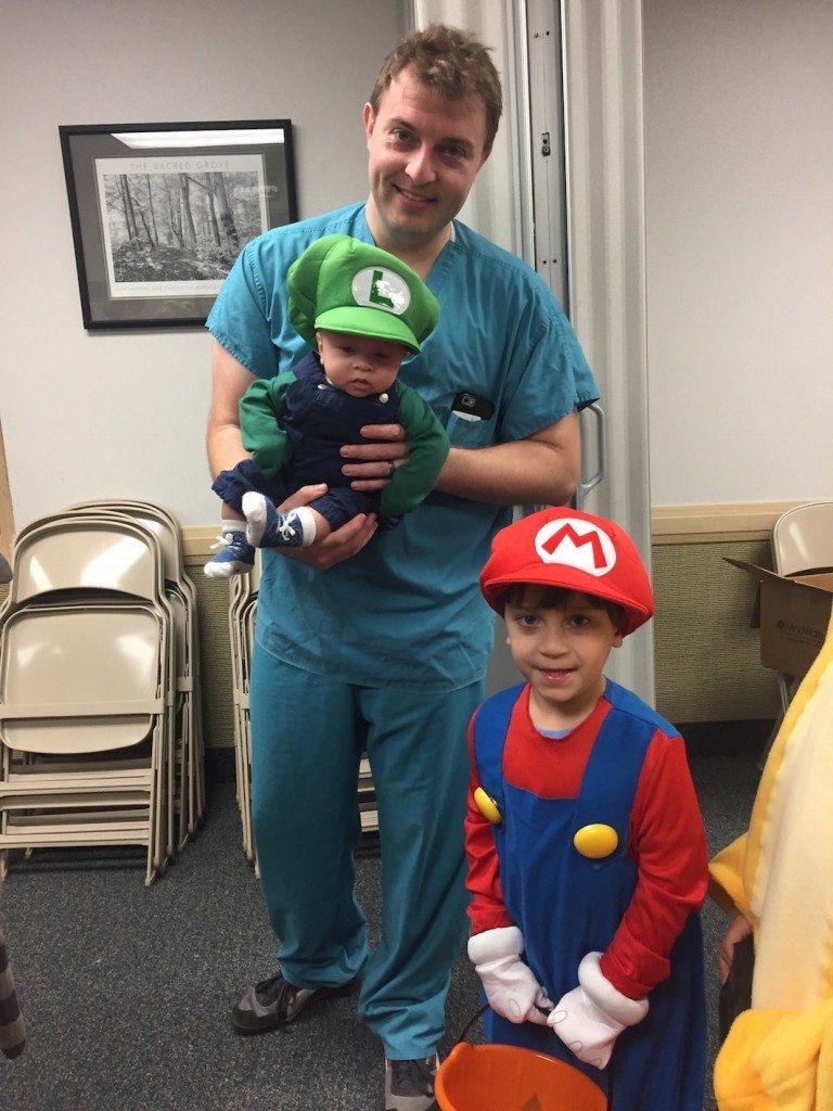 B.J. with Super Mario and Luigi