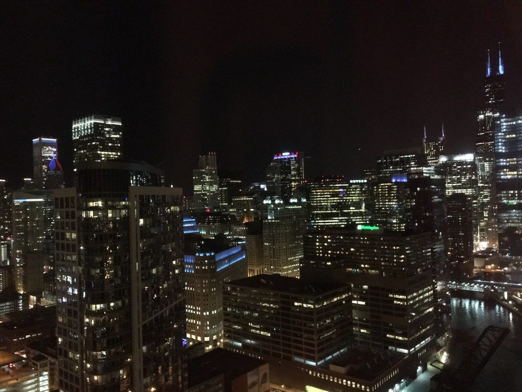 Chicago celebrating Cubs World Series Win