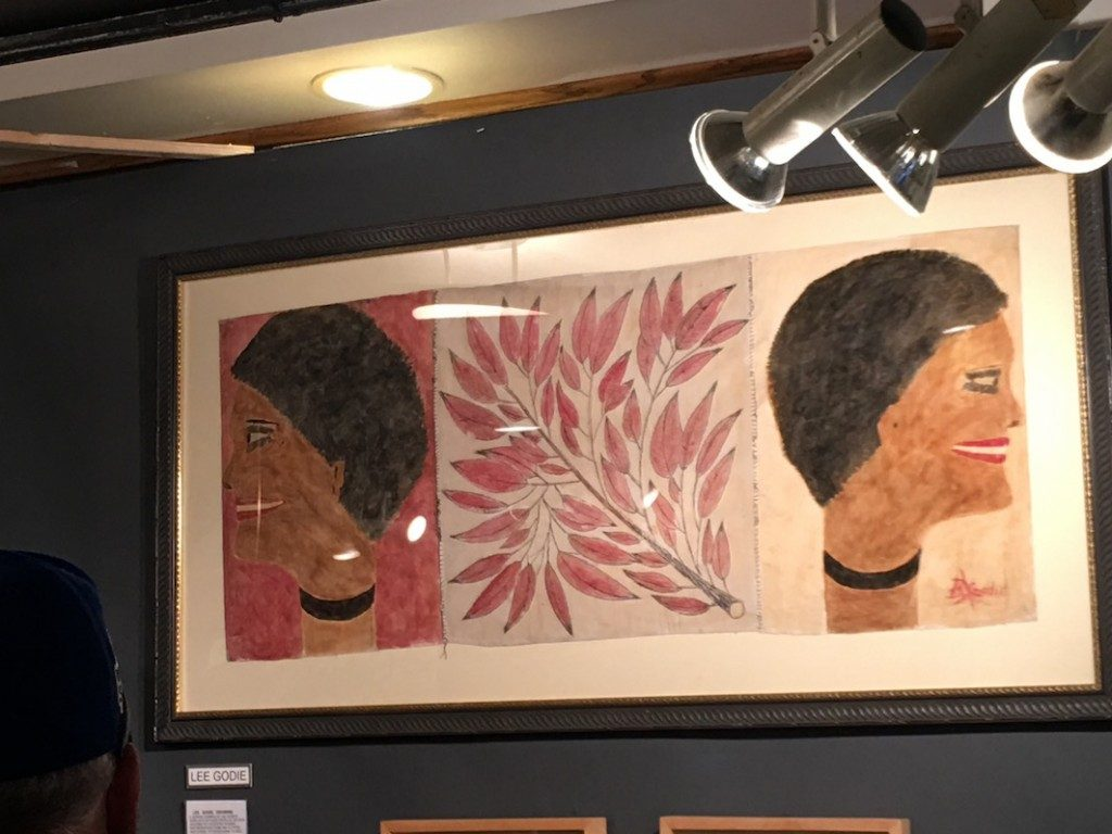 Antiques + Modernism Winnetka Show: Lee Godie-outsider art