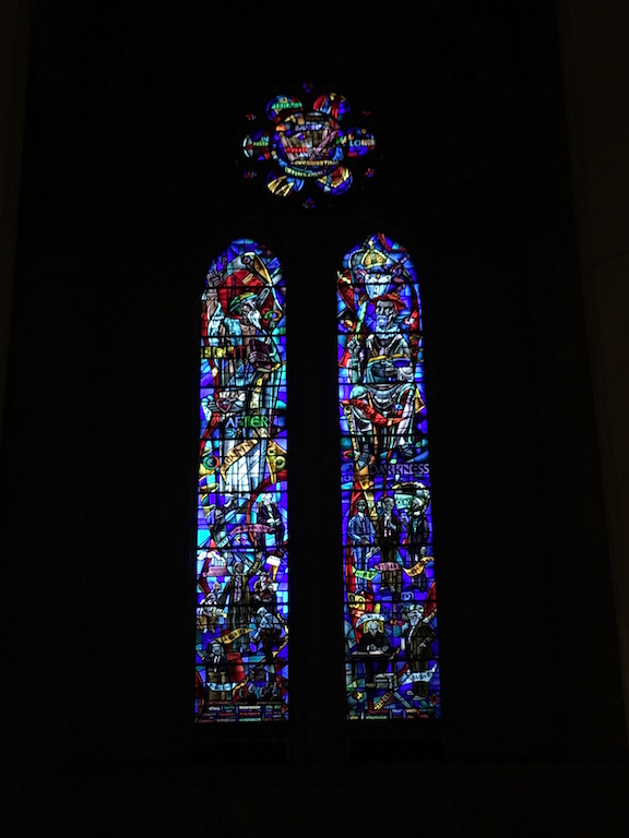 Stained glass windows St. Grace Cathedral San Francisco