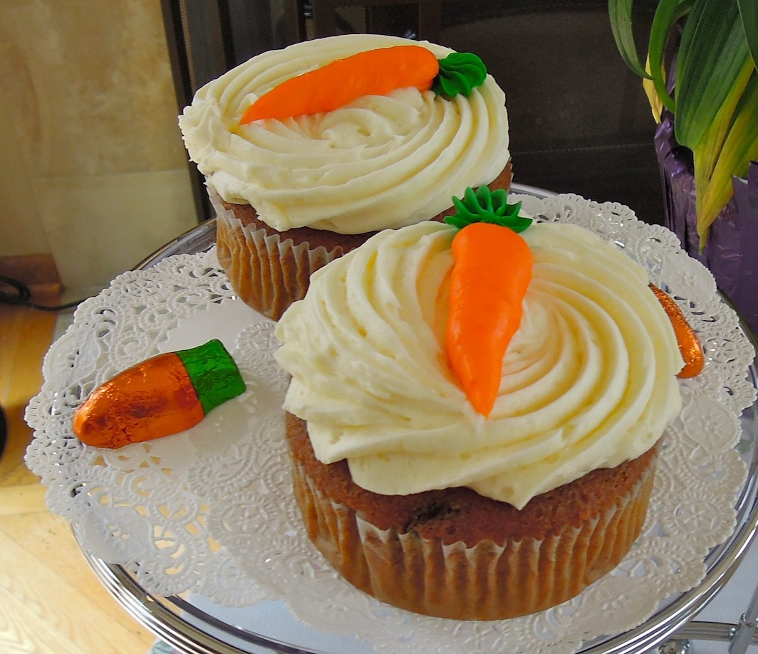 carrot ginger cupcakes with cream cheese frosting recipe 40th birthday ...