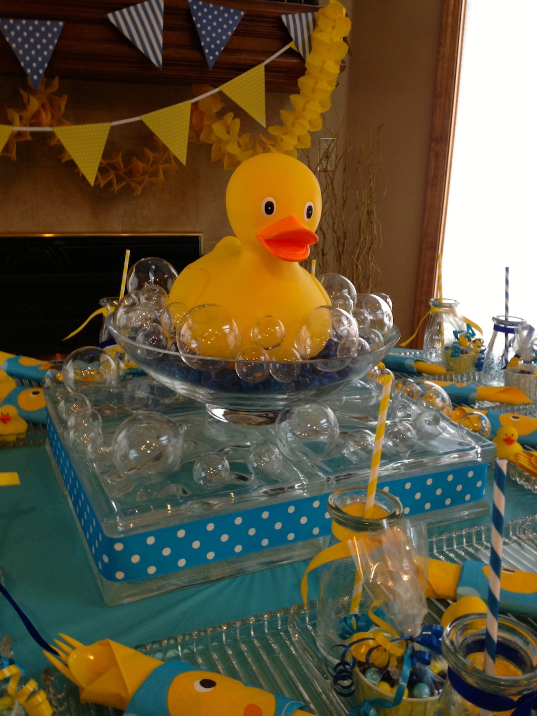 Rubber Duck Themed Baby Shower Centerpiece Shelley Beatty
