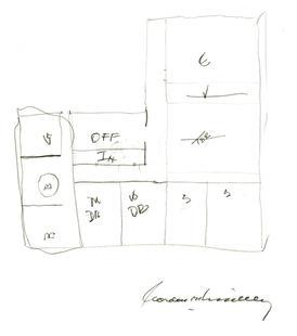 Gordon B. Hinckley's drawing plan of small temples